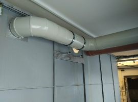 JP-PROLAK, spol.s.r.o., instalace nového odsávání odmašťovací kabiny, dodání odsávacího modulu s ventilátorem