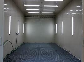 TALTECH s.r.o. (Mantov-Chotěšov) pracoviště předúpravy povrchu pomocí vysokotlakého agregátu